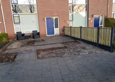 8 antraciet beton, grenen tuinhek